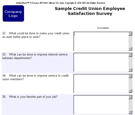 sample open-ended question page